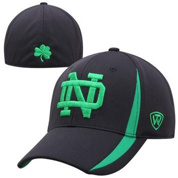 Top of the World Notre Dame Fighting Irish Triumph One-Fit Flex Hat - Navy Blue