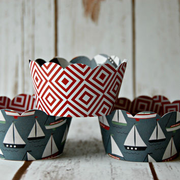 Boat Themed Cupcake Wrappers