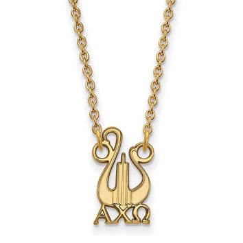 14K Plated Silver Alpha Chi Omega Small Necklace