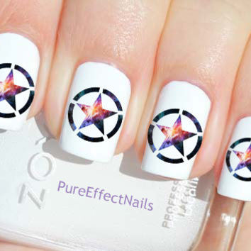 Galaxy Star Nail Decals by PureEffectNails on Etsy