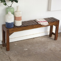 Recycled Wooden Teak Shop Bench