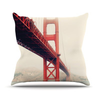 "Bree Madden ""Golden Gate"" Throw Pillow"