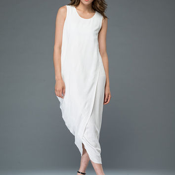 White linen dress Long dress