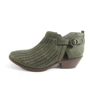 Below Ankle Booties - Khaki