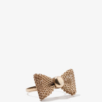 Mesh Metal Bow Ring