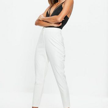Missguided - White Cigarette Pants