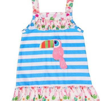 Stripped Parrot Sun Dress