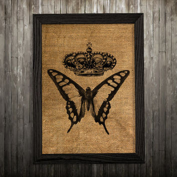 Wildlife art Butterfly poster Insect print Burlap print BLP49