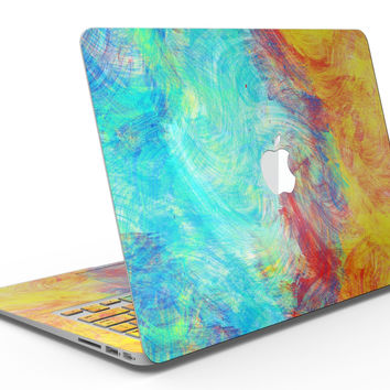 Vibrant Colored Messy Painted Canvas - MacBook Air Skin Kit