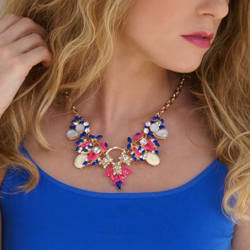 Jeweled Necklace: Multi