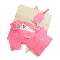 Classic Plain Travel Collection in Pink Lizard & Cream Suede