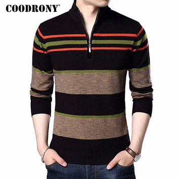 COODRONY Christmas Sweater Men 2017 New Winter Thick Warm Turtleneck Pull Homme Cashmere Pullovers Men Merino Wool Sweaters 7311