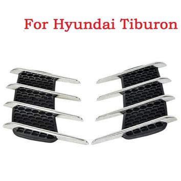 2017 new Car Side Bonnet Air Vent Grill Decoration outlet decorative stickers Euro Cuct Side Door Auto for Hyundai Tiburon