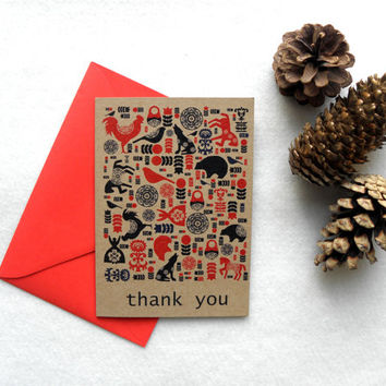 Thank You Card - Thank You - Wedding Thank You - Blank Card - Rustic Thank You - Birthday Thank You - Thank You Notes - Stationery - Thanks