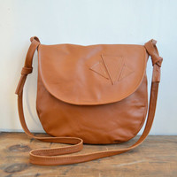 Quinn Purse - Leather Purse - Cross Body or Shoulder - Warm Pumpkin - Satchel