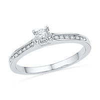 1/10 CT. T.W. Diamond Promise Ring in 10K White Gold - View All Rings - Zales