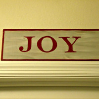 JOY Christmas/Holiday Hand Painted Wood Sign