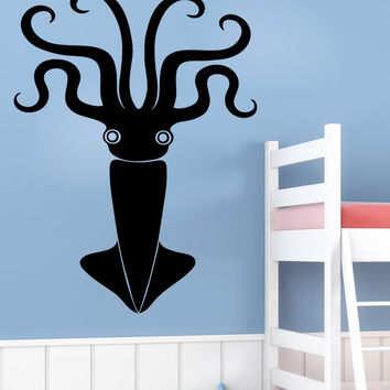 Vinyl Wall Decal Sticker Symmetrical Squid #5338
