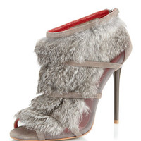Eclipse Fur Bootie, Gray