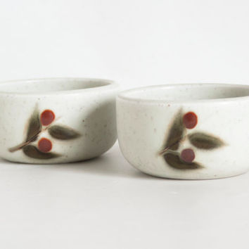Vintage Otagiri Bittersweet Stoneware Bowls, 4 1/2 inch Rice Vegetable Bowls Ramekins, Hand Painted, Made in Japan