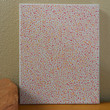 Dot Painting Peach Aboriginal Inspired 9 x 12 by Acires on Etsy