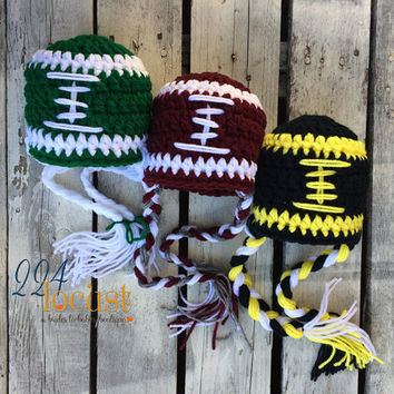 Football Hat, Baby Football Hat, Sports Teams, Photo Props, Photography Props, Football, Sports, Baby Sports, Hat, Beanie, Football Hat