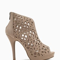 Verdict 73 Damask Lasercut Bootie