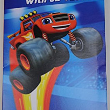 Nickelodeon Blaze and the Monster Machines 32 Valentines with Tattoos