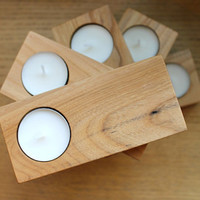 SALE  Locally salvaged Elm tea light holders by TheDesignPallet