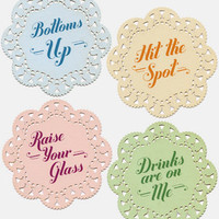 Indelicate Doily Coasters | Knock Knock Drink Coasters | fredflare.com