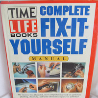 Vintage hardback 1989 Fix It Yourself Manual by Time Life Books