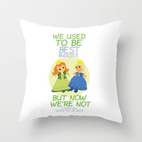we used to be best buddies, but now we're not...(I wish you would tell me why?) Throw Pillow by Studiomarshallarts