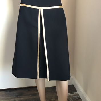 NWT $1245 Prada Skirt Black Size 38 ( 6 US ) Made In Italy