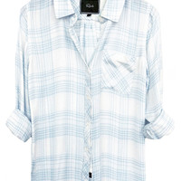 Rails Hunter buttondown in ivory/sky