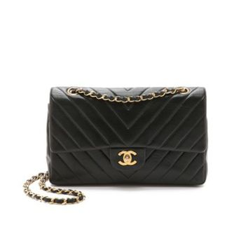 Heritage Chanel Chevron Detail 2.55 10'' Bag