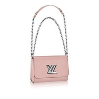 Authentic Louis Vuitton Epi Leather Twist MM Handbag Article: M50380 Pink Made in France