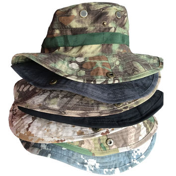 Army Caps A-tacs  Hat Sunscreen Soldier Cap Military Fishing  Hat