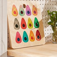 Elisabeth Fredriksson for Deny Rainbow Avocado Cutting Board | Urban Outfitters