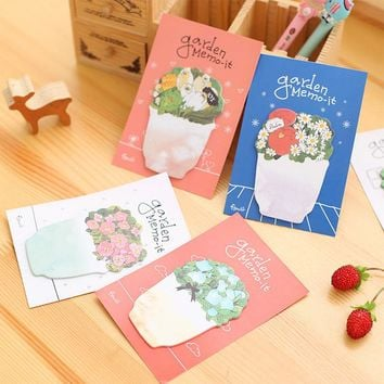1Pack Garden Memo It Flower 8 Colors Sticky Post It N Times Memo Pad School Stationery Label Gift E0068 TIAMECH
