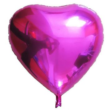 Heart Shape Foil Air Balloons Wedding Party Say Love Decorations Marriage Ballon Supplies 7 Colors Classic Ball Toys