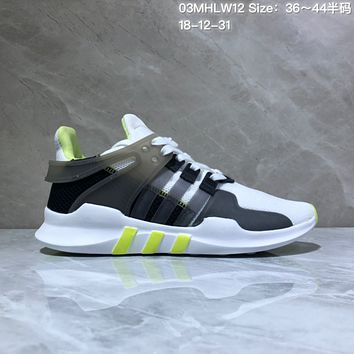 HCXX A558 Adidas EQT Cushion ADV Mesh Knit Fashion Running Shoes White Black Fluorescence