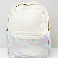 ASOS Hologram Canvas Mix Backpack