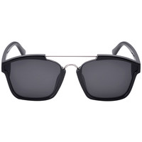 Black Double Bridge Cat Eye Sunglasses