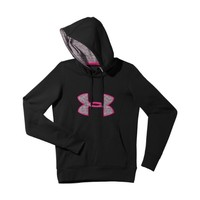 Under Armour Women's Armour Fleece Storm Big Logo Hoodie Extra Small Black