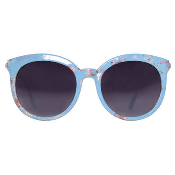 Perfect Circle 90s Deadstock Sunglasses ~ Baby Blue Print