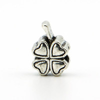 1piece Free Shipping 925 Silver Clover DIY Bead big hole European Beads Fits Silver Charm pandora Bracelets necklaces pendants