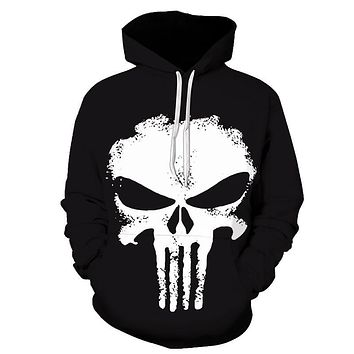 ZOOTOP BEAR 2017 Fashion 3D skull Hoodies Print Men/Women Harajuku Sweatshirt Casual Graphics Pullover Hoody S-6XL Plus Size