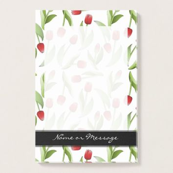 Red Tulip Love Floral Patten Elegant Modern Custom Post-it Notes