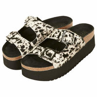 FANG DOUBLE BUCKLE FLATFORMS