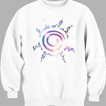 Naruto Kyuubi Seal Nebula Galaxy Sweater for Mens Sweater and Womens Sweater ***